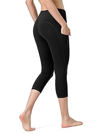ALONG FIT Capri Pants with Pockets, High Waisted Capri Leggings for Yoga