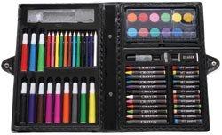 Darice Artyfacts Portable Art Studio Kit, 68 Pieces