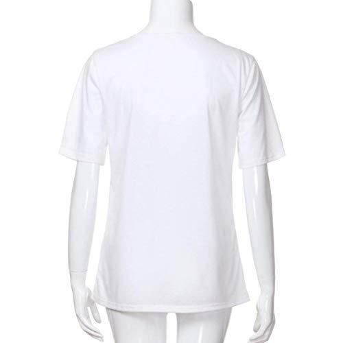 Courtes Fleurs Mode Col Blanc Elgante Branch T Fit Chic Manches Top Femme Rond Casual Et Pullover Papillon Modle Impression Slim Shirt Tshirt Shirt xwzXfAYn