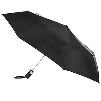 Totes totesport Auto Open Folding Umbrella, Black, One Size