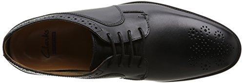 Negro Clarks Edge cuero hombre Leather zapatos Kalden Black de cordones con 8r5w8fax
