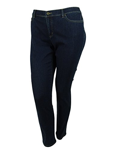 LRL Lauren Jeans Co. Womens Plus Super Stretch Skinny Jeans Denim 14W