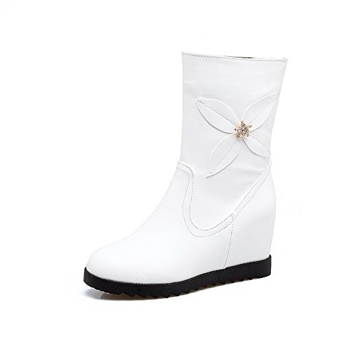 1TO9Mns02434 - Sandali con Zeppa Donna, Bianco (White), 35