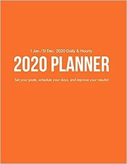 Amazon.com: Daily & Hourly 2020 Planner: Orange Hourly ...