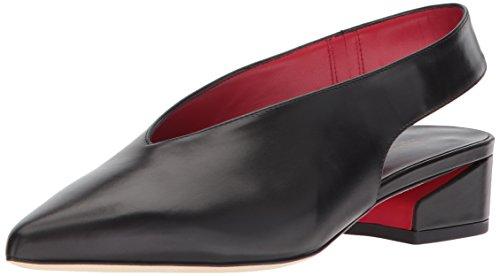 Via Spiga Women Shoes - Via Spiga Women's Darwin Slingback Flat Mule, Black Leather, 10 Medium US