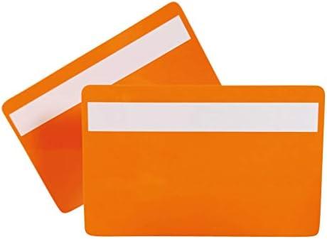 Plastikkarten ORANGE mit Unterschriftfeld | 1-100 Stück | Blanko Rohlinge | NEU! (1)