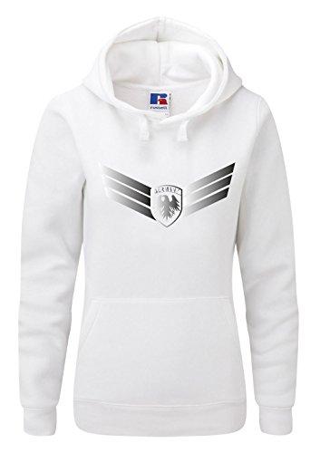 Shirt-Checker em 2016-Sudadera Mujer blanco y plateado