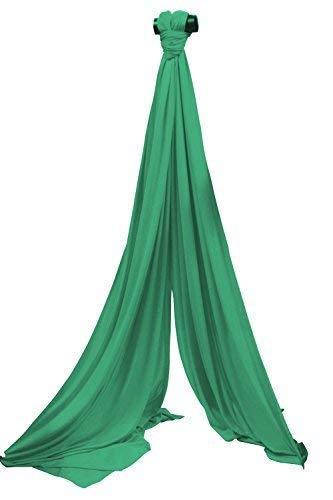 SchenkSpass Grünikaltuch 18m (Meter) für 9m Deckenhöhe (tissus, Aerial Fabric) (grün)