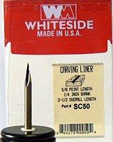 Whiteside Router Bits SC50 Carving Liner 11-Degree by 5/8-Inch Cutting Length from Whiteside Router Bits