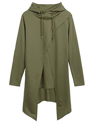 da1ff913840c6 COOFANDY Men s Slim Fit Hoodie Lightweight Hooded Sweatshirt Casual Hip Hop Long  Length Cloak Cotton Blend