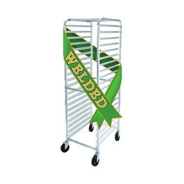 Winco Mobile Aluminum Sheet Pan Rack Full Height 28'' Wide