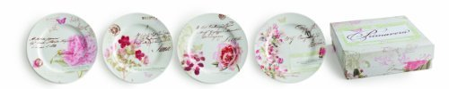Rosanna Set of 4 Primavera Dessert Plates, Assorted, 8 by Rosanna