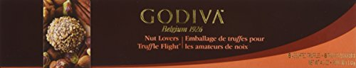 Godiva Chocolatier Flight Chocolate Truffle, Nut Lovers, 6 Count by GODIVA Chocolatier