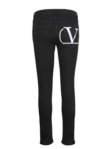 Jeans Negro Algodon Rb0dd08i4n0926 Valentino Mujer 4IAZqwAp