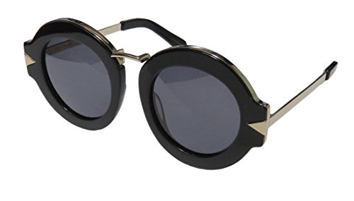 Karen Walker Women's Maze Sunglasses, Black Gold/Smoke Mono, One - Karen Frames Walker