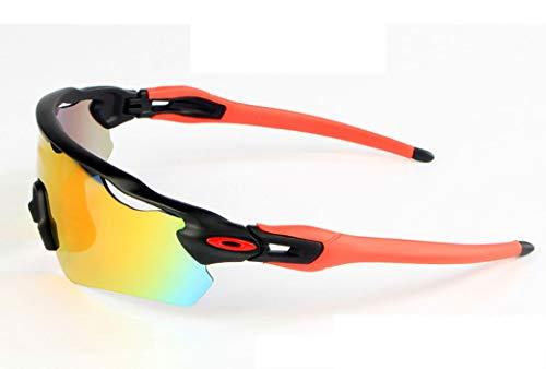 sol Cradifisho y de lentes Rosso hombre Gafas para XQ mujer intercambiables 5 polarizadas rwAHtr