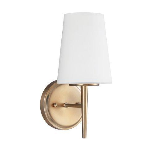 Sea Gull Lighting 4140401-848 Driscoll One Light Wall/Bath Sconce Vanity Style Lights, Satin Bronze Finish