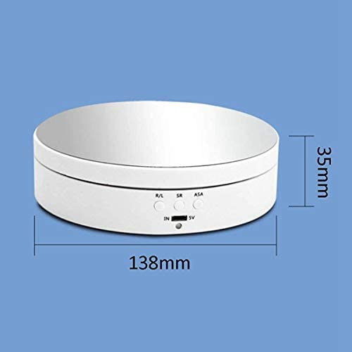 Accesorios para Disparar Plataforma Giratoria SODIAL Soporte de Exhibici/óN de Joyer/íA Giratorio El/éCtrico de 2 Uds Video Pantalla de Embalaje para Fotograf/íA Base de Espejo