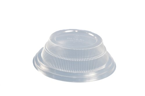(Dinex DX11880174 Classic Polystyrene Disposable Dome Lid, Clear, For China Bread Plate and Fruit Bowl (Case of 500))