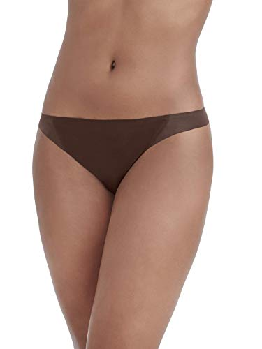 - Vanity Fair Women's Underwear Nearly Invisible Panty, Cappuccino - Thong, Medium/6