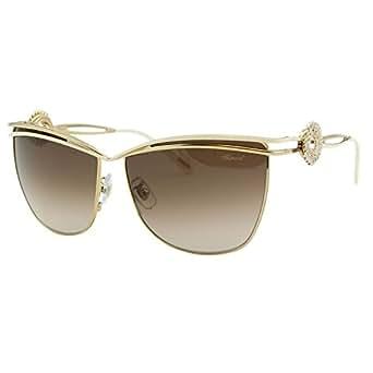 Chopard Palme Verte SCH B26S H32 Women Gold Square Pantos Embellished Sunglasses