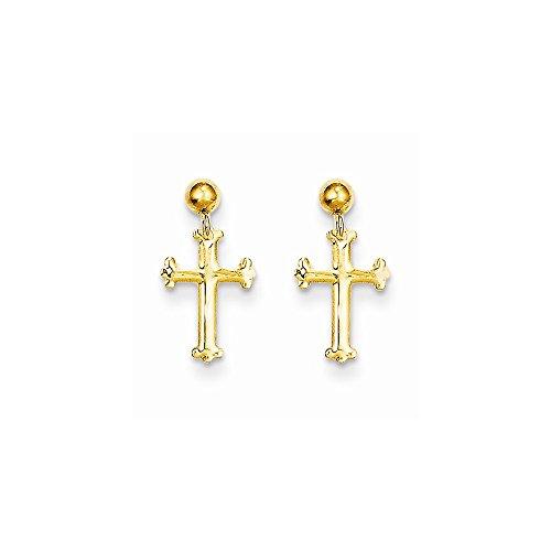 Cross Dangle Post Earrings - 6