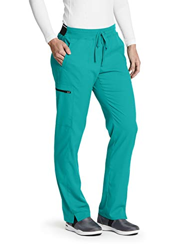 Grey's Anatomy GRSP500 Kim Cargo Scrub Pant - Spandex Stretch Jade Jewel XS Petite (Jade Girls Pants)