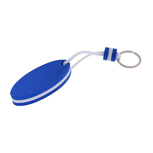 Boating Sea Fishing Sailing Water Floating Charms Keychain Key Ring Sports Fan Key Chains- Surfboard Shape Blue