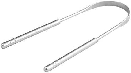 XSWY Zungenschaber Edelstahl Oral Zungenreiniger Pinsel Frischer Atem Reinigung belegte Zunge Zahnbürste Oral Hygiene Pflege Werkzeuge (Farbe : 02)