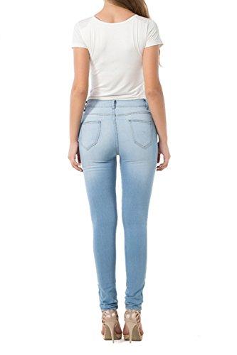 Kgm Alte Jeans Le I 2color Skinny Blu Donne Wasitiraq Vosujotis Leggings Taglia wBxEOYxqa