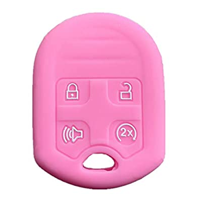Rpkey Silicone Keyless Entry Remote Control Key Fob Cover Case protector For Ford Expedition F150 F250-350 Lincoln Navigator 164-R8073 CWTWB1U793(Pink): Automotive