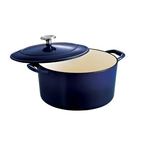 Tramontina Enameled Cast Iron Covered Round Dutch Oven, 6.5-Quart, Gradated Cobalt