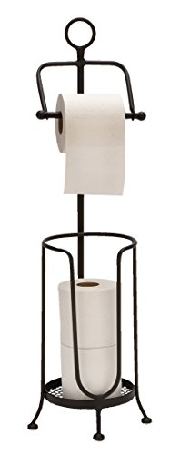 Deco 79 Metal Toilet Paper Holder, 28 by 7-Inch Deco Toilet