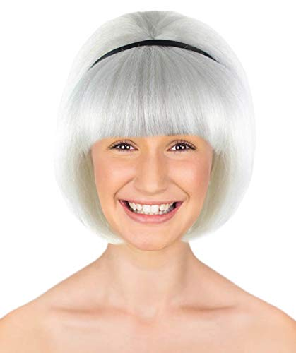 Halloween Party Online 50s Lady Wig, White Adult HW-1716A ()