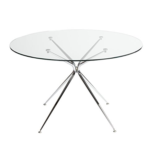 48'' Round Glass Meeting Table w/Chrome Base by eS (Image #2)