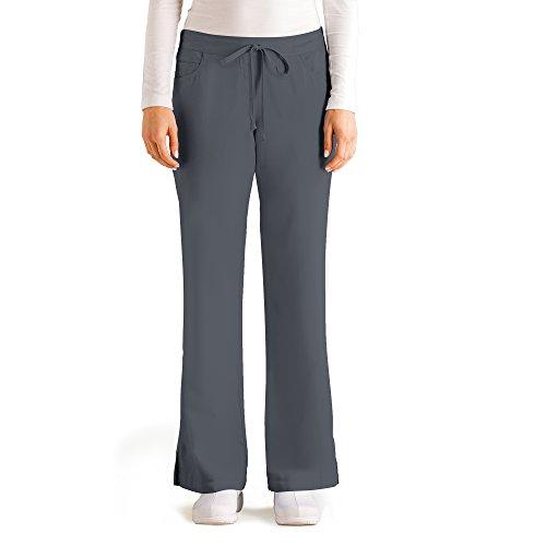 greys-anatomy-womens-junior-fit-five-pocket-drawstring-scrub-pant-small-petite-granite