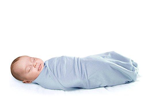 Woolino Newborn Swaddle Blanket, 100% Superfine Merino Wool, For Babies 0-3 Months, Blue