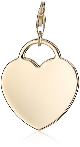 14k Yellow Gold Personalized Engravable Heart Charm