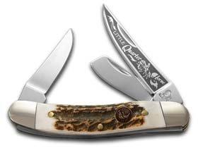 HEN & ROOSTER AND Deer Stag Little Quarter Horse Sowbelly Pocket Knife Knives