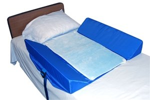 Bed Support System with 2 Attached 30-Degree Bolsters and Pad - w/ Mesh Pad, 32''L x 34''W x 6''H - 1 Each / Each