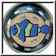 Enamel Kitchen Strainer (Enamel Kitchen Strainer Tropical Blue Fish)