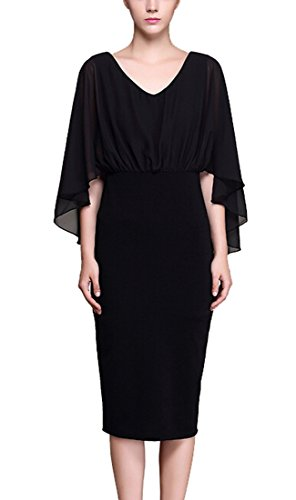 ouxiuli Women's Long-sleeved Dress Sexy Slim