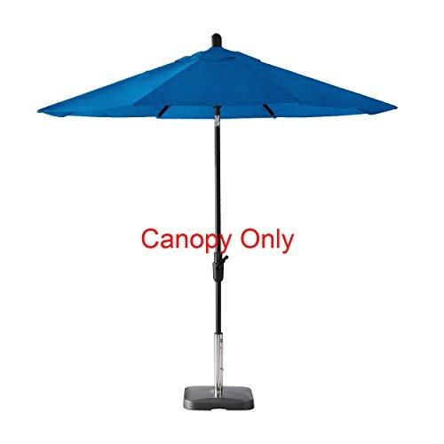 Amauri Outdoor Living The Market Collection Universal Fit Modern 9ft Sunbrella Fabric Replacement Umbrella Canopy, Pacific Blue