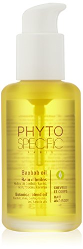 PHYTO SPECIFIC BAOBAB OIL 99% Botanical Hair & Body Oil | Pre-Shampoo & Leave-In, Nourishes Scalp & Hair, Protects & Repairs Hair, Leaves Hair & Skin Soft, Anti-Frizz |Shea, Castor, Karanja, Olive Oil