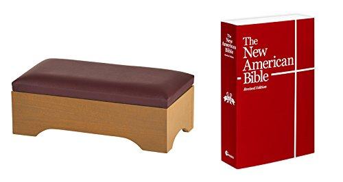 Personal Kneeler & New American Bible - Pecan