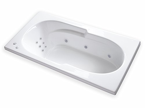 Carver Tubs - AR7136 WH - 12 Jets - Heater - - Jetted In Drop 36 Inch