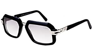 Cazal 6004S Sunglasses 002SG Matte Black Silver/Light Grey Gradient 56 mm