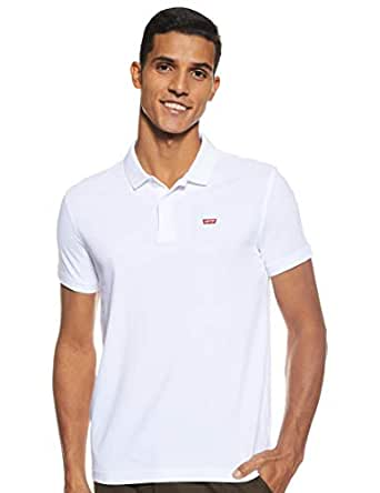 Levis Men's Solid Regular fit Polo (17474-0114_White_Small)