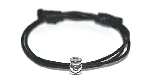 Sterling silver eternity love charm waxed cord sliding knot bracelet and infinity note card