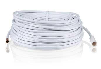 Radioshack 100-Ft. Outdoor QuadShield Coax Cable (White)
